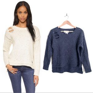 {WILDFOX} After Party Distressed Wool Sweater